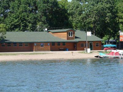 Exterior view of Ten Mile Lake Resort.