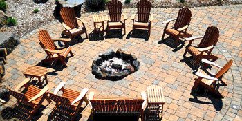 Community fire pit at Northernaire Resort and Spa.