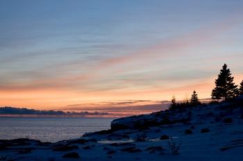 Sunrise at Surfside on Lake Superior.