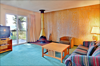 Guest living room at Ocean Crest Resort.