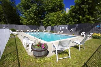 Outdoor pool at Bar Harbor Villager.