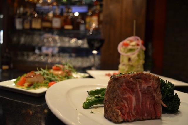 Dining at White Buffalo Club.