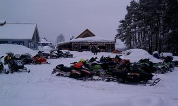 Snowmobiling at Fairway Suites.
