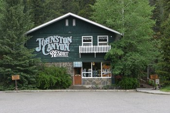 Exterior view of Johnston Canyon Resort.