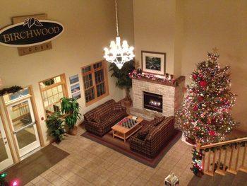 Lobby view at Birchwood Lodge.