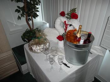 Guest room at Ocean Resort Inn.