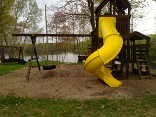 Children's playground at Sleeping Bear Resort.