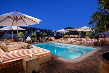Outdoor pool at  Petit Ermitage - West Hollywood.