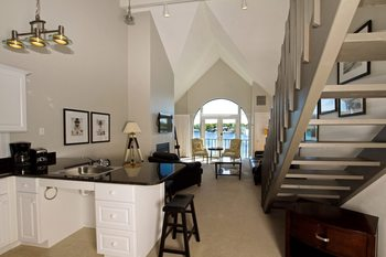 Vacation rental interior at Edgewater Inn on the Harbor.
