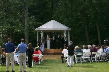 Gazebo wedding at Northern Lights Lodge