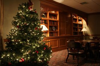 Christmas tree at Stonehedge Inn & Spa.