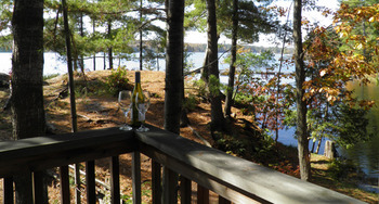Deck view at Westwind Inn on the Lake.