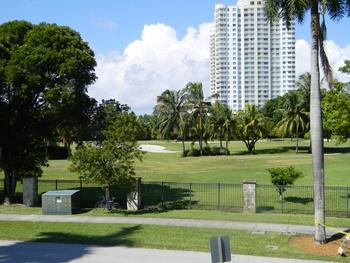 Golf course near Knights Inn Hallandale Beach.