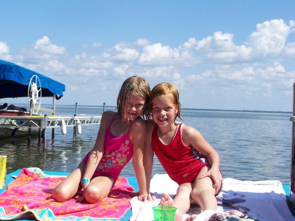 Swimming in the lake at The Lodge on Otter Tail Lake.