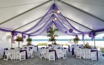 Beach wedding reception at Sirata Beach Resort.