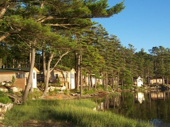 Cottages at Sheepscot Harbour Village.