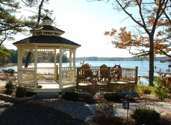 Gazebo at Sheepscot Harbour Village & Resort.