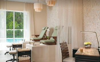 The spa at The Seagate Hotel & Spa.