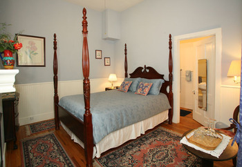 Guest room at Brannan Cottage Inn.