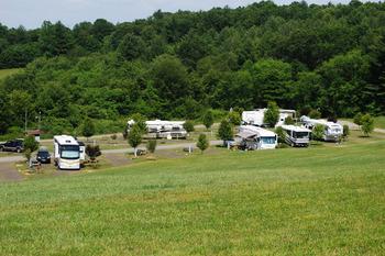 RV campsite at Lake Ridge Resort.