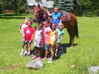 Horse rides at Daniels Family Lodge.