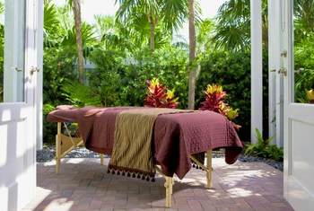 Outdoor Massage at Sunset Key Guest Cottages