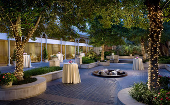 Patio view at Rosewood Hotels and Resorts.
