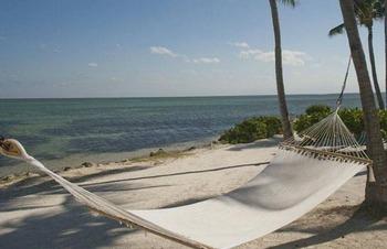 Beach hammocks at Chesapeake Beach Resort.