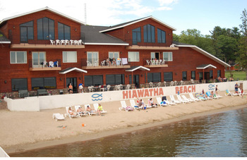 The beach at Hiawatha Beach Resort.