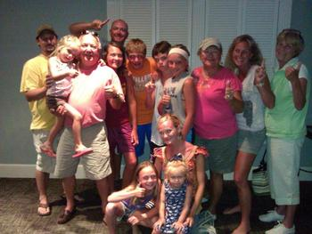 Family Picture at  Fripp Island Golf & Beach Resort