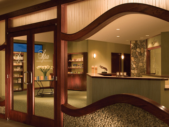 Spa entrance at Grand Traverse Resort.