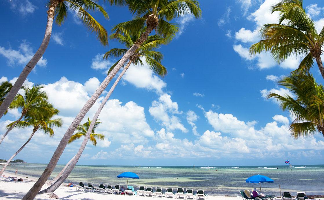 The beach at La Concha Hotel & Spa.