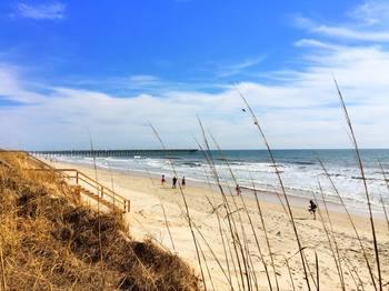 The beach at Treasure Realty.