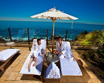 Spa relaxation lounge at Terranea Resort.