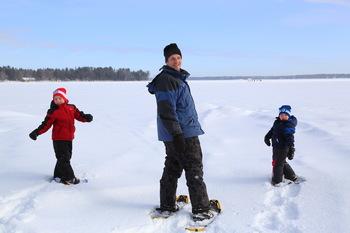 Snowshoeing at Bayview Wildwood Resort.
