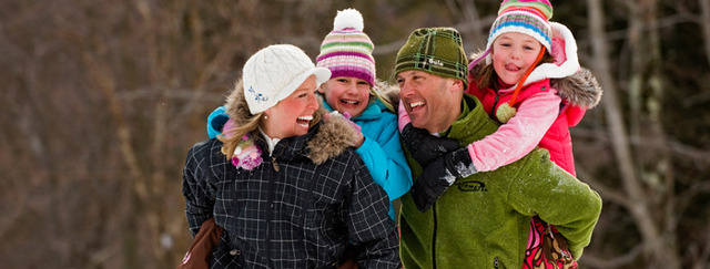 Family winter fun at Smugglers' Notch Resort.