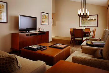 Suite living room at The Westin Mission Hills Resort & Spa.