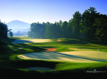 Golf green at Wintergreen Resort.