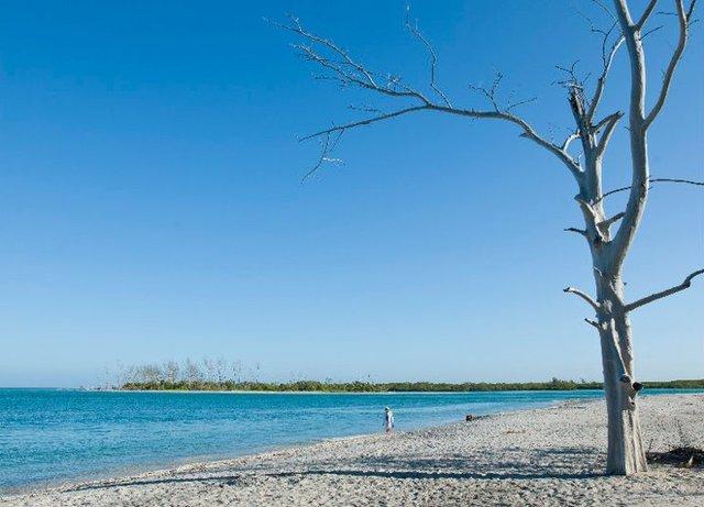Beach view at Palm Island Resort.