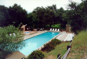 Outdoor pool at Lupin Lodge.
