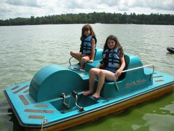 Peddle boat at Idle Hours Resort.