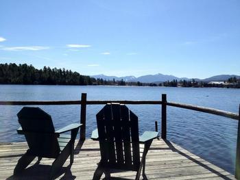 The lake at Mirror Lake Inn Resort & Spa.