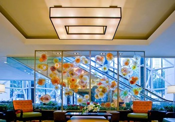 Lobby at the Houston Marriott Medical Center