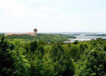 Aerial view of Tanglewood Resort and Conference Center.