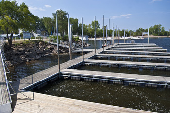Boat docks at Historic Afton House Inn.