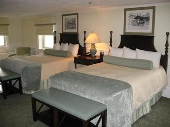 Guest room at The Inn at Pocono Manor.