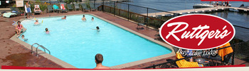 Ruttger's Bay Lake Lodge, lakeside pool