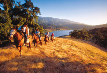 Horseback riding at Alisal Guest Ranch and Resort.