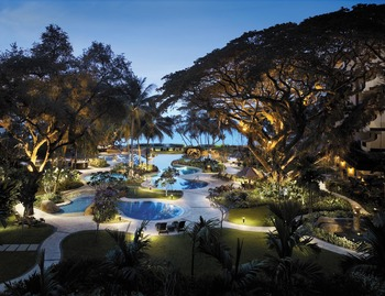 Outdoor pool at Shangri-La's Rasa Sayang Resort.