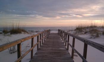The beach at Sunset Properties.